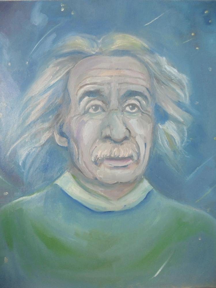 Albert Einstein by ferrokaro